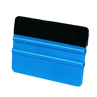 Black Felt Edge Plastic Window Squeegee,4 Inch Soft Car Vinyl Scraper,Window Tint Film Scratch Free Installing Squeegee(100mm X 70mm X 7mm): Health & Personal Care
