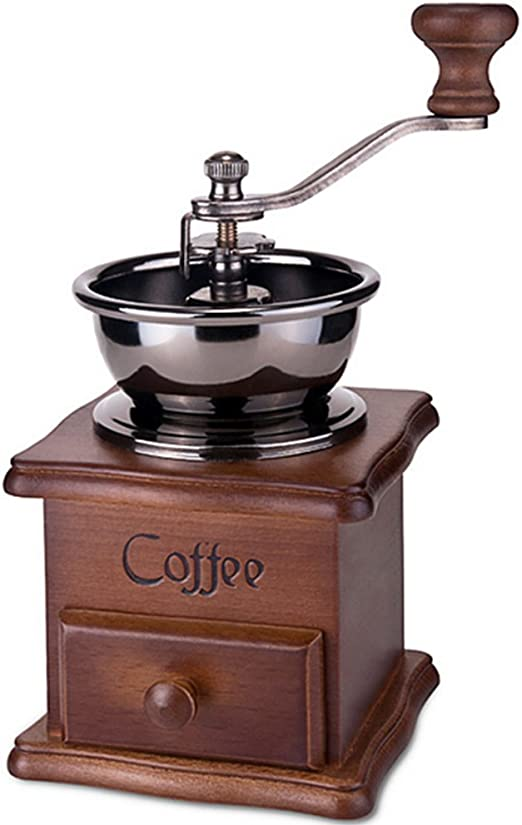 Kangkang@ Vintage Style Wooden Manual Hand Coffee Bean Mill Grinder Coffee Hand Grinder Molinillo De Cafe Moedor De Cafe