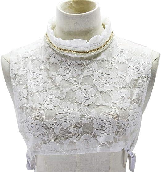YAOSHI-Bow tie/tie Corbatas y Pajaritas para Camisa de Dama Falda de Encaje Medio Cuello Camisa Desmontable Falso Faux Collar Cuff Gargantilla de algodón: Amazon.es: Jardín