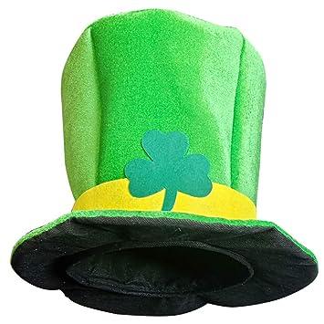 Siswong St. Patrick s Day Green Irish Novelty Fancy Dress Leprechaun Man  Top Hat Adult Hat 54a0071fecff