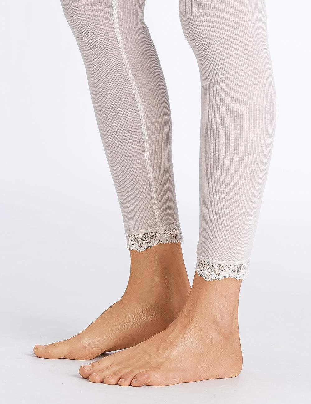 Hanro Woolen Lace Leggings Calzamaglia Termica Donna