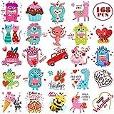 Toys : 168 Valentines Tattoos for Kids 24 Designs Temporary Tattoos Classmates Valentine Exchange Gifts School Teacher's Prizes