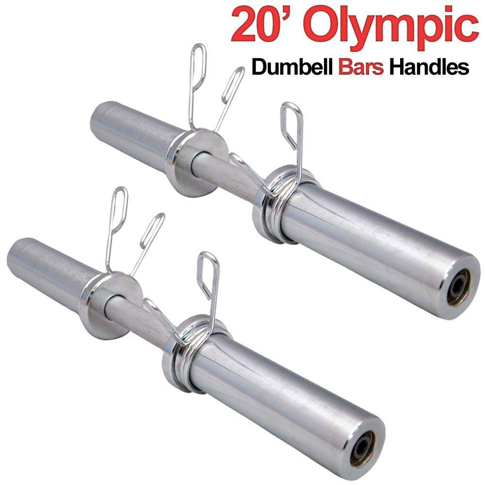 Barras olímpicas MAXSTRENGTH bobalicona 5 cm con pesas Barbell gimnasio en casa danzoterapia de entrenamiento - Chrome par, 5,08 cm, ...