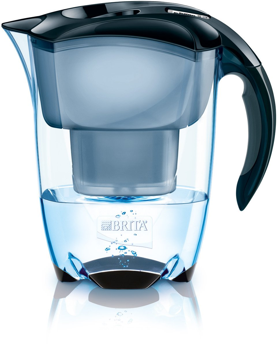 BRITA Elemaris Cool Water Filter Jug and Cartridge, Black 1000815 Orla kiely Meter Maxtra