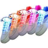 MINISKY 5 Paires Lacets LED Light Glow Flashing Shoelaces Shoe Strings Color Lacets lumineux LED Claire Petit Fête Disco Dance Etanches