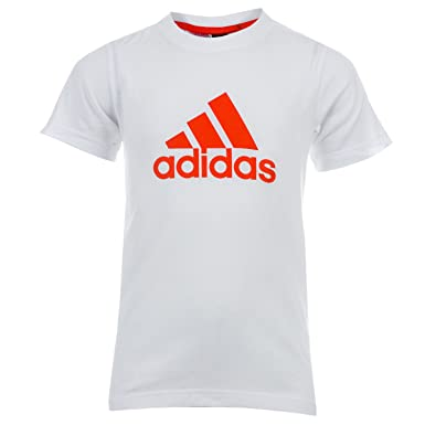 d27cf57065fb3 adidas T-Shirt Essential Logo Blanc Garçon  Amazon.fr  Vêtements et ...