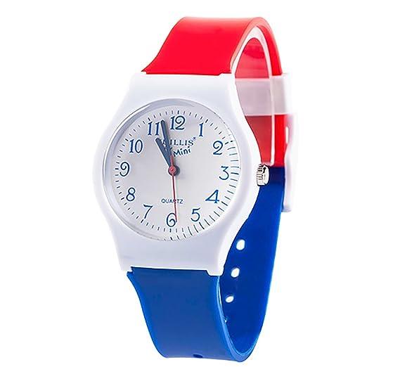 Relojes de pulsera, con correa de goma, para niños, niñas, adolescentes, estudiantes: Amazon.es: Relojes