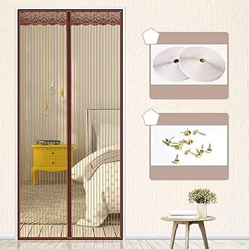 El verano Mosquitera Puerta,magnético de la malla puerta del velcro Velcro de cuadro completo Cortina mosquitera magnética para puertas ...