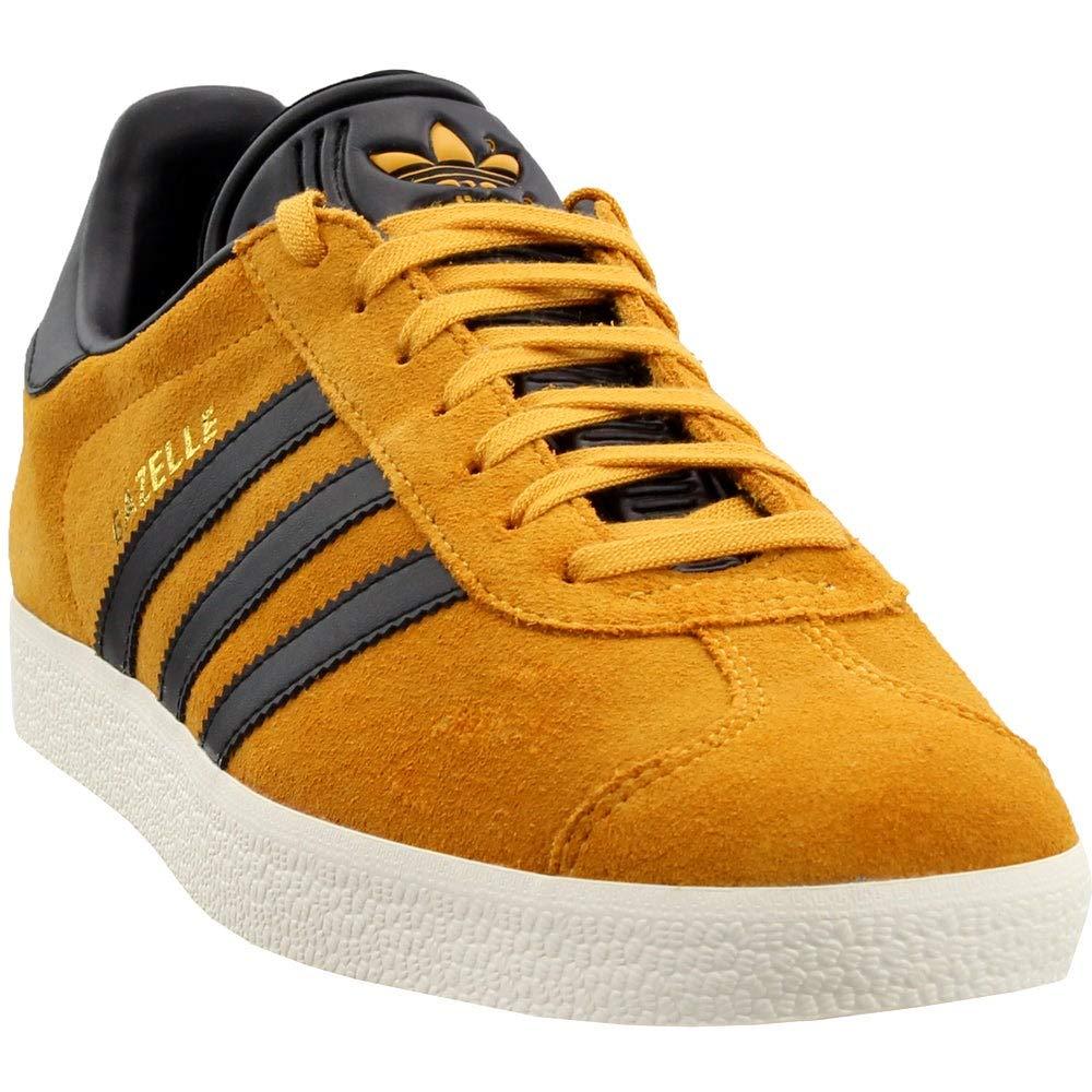 adidas Originals Gazelle Sneaker,Tactile YellowBlackMetallic Gold,7 Medium US