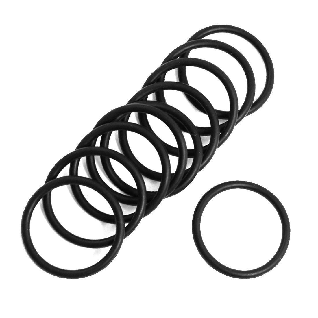 Esterno 23 mm Dia. 2 mm di spessore olio guarnizione O Rings Guarnizioni nero 10pcs Sourcingmap a13030700ux0522