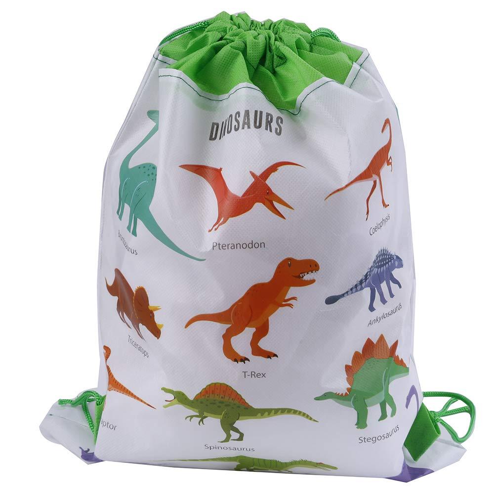 Personalised Dinosaur Drawstring Rucksack Canvas Gym// PE Bag /'Triceratops/'