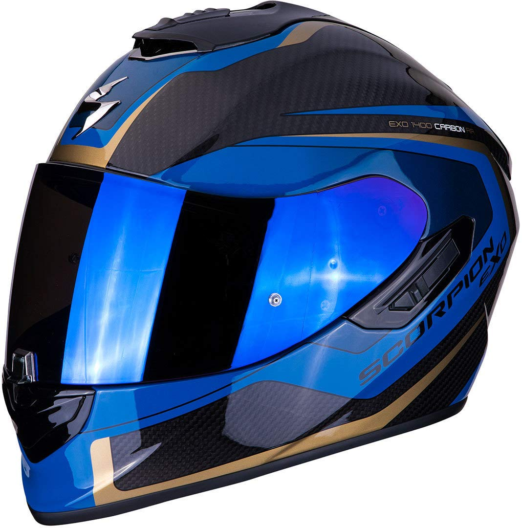 Scorpion 14-276-66-03 Motorrad Helm Schwarz//Blau S