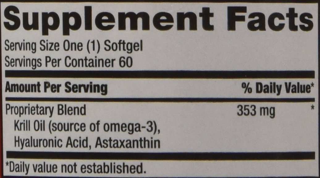 Schiff MegaRed Joint Care 60 Softgels Powerful Joint Pain Relief ,Comfort by Megared (Image #3)