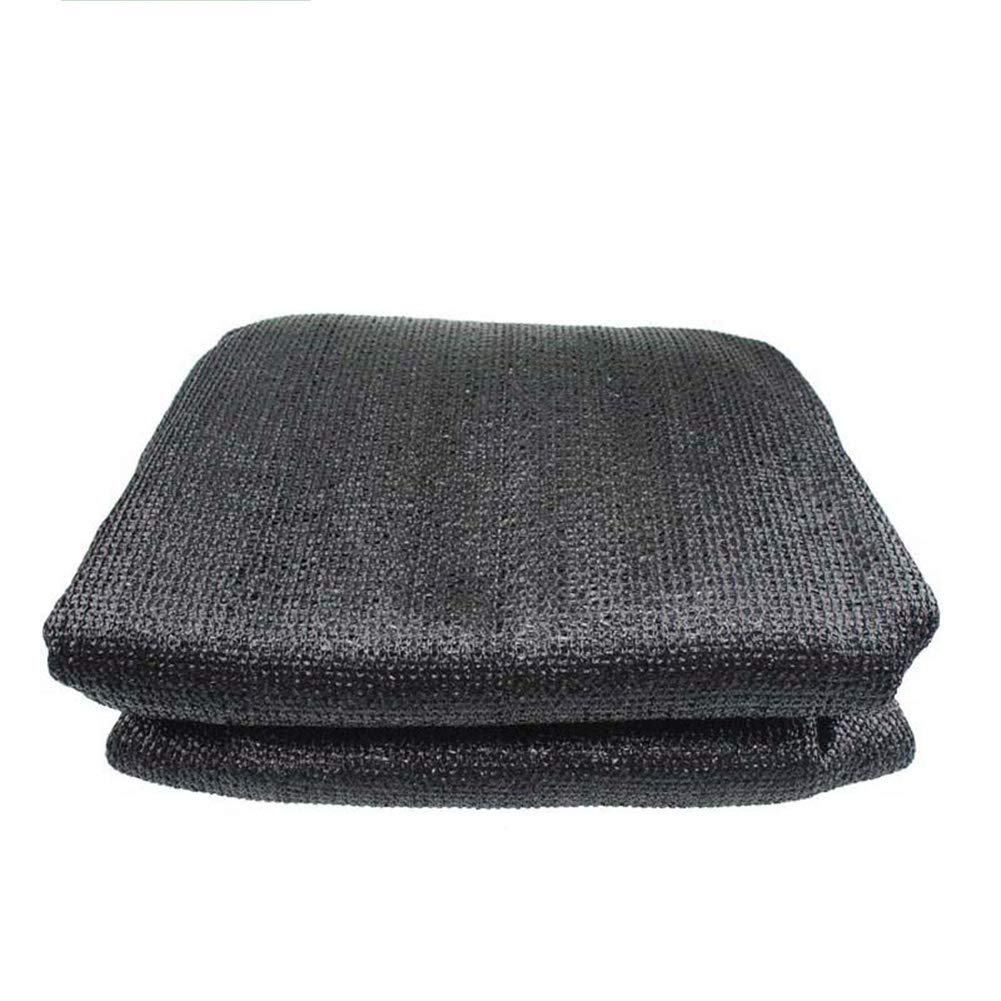 LIXIONG シェードネット 6ピン製織 カバークロス ガーデニング用品 断熱バルコニー屋根 屋外 サンプロテクション、100g / m2 (色 : 黒, サイズ さいず : 3X5m) 3X5m 黒 B07G8VLVPH