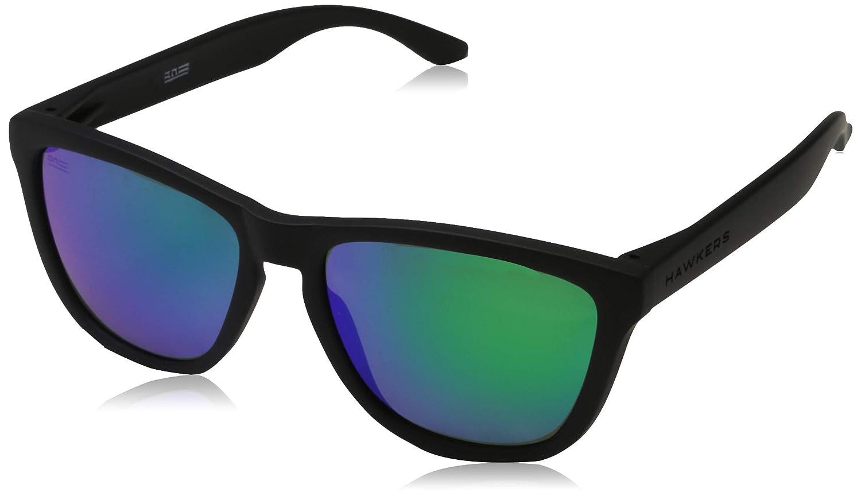 50.0 Mixte Adulte Bleu Hawkers Polarized Carbon Black /· Emerald One Montures de Lunettes Azul