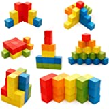 Buy Creative Life Wooden Building Blocks for Kids (Multicolour) -Pack of 100 Pcs