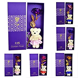 MingXiao Emulational Flower Artificial Rose Decorating Gold Foil 6 Color Prop Hotel 64