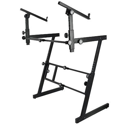 Sobre el escenario Heavy-duty soportes Pro soporte para teclado con plegable-Z 2nd
