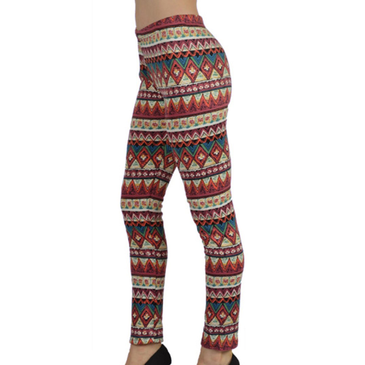 c7a05fabafc Amazon.com  Fleece Lined Leggings for Women - High Waist Stretchable Pants  - Thermal Compression Full Length Tights - Multi-Style Nordic Snow Flake  Reindeer ...