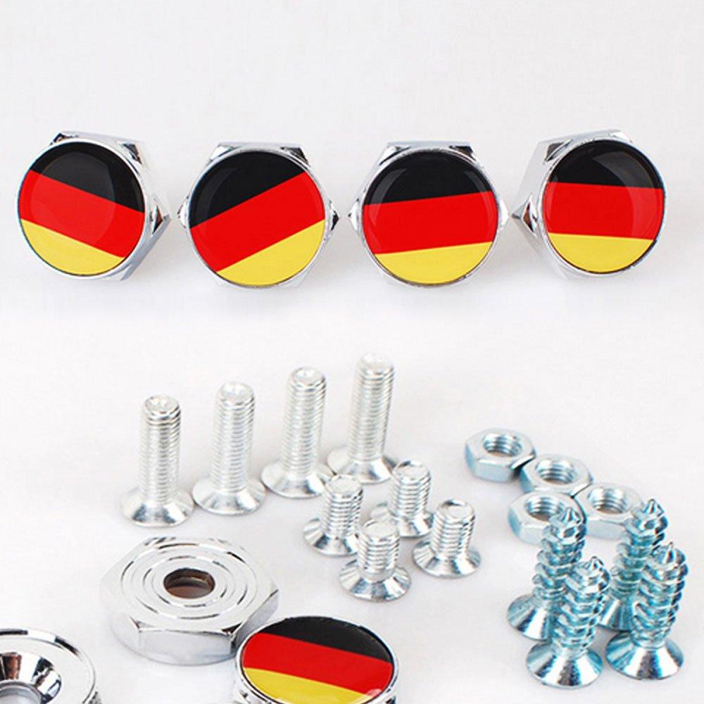confezione da 4 /… DSYCAR Chrome metal Testa di teschio logo bulloni antifurto per auto targa telaio viti