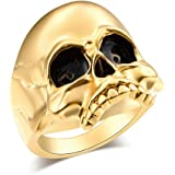 Skull Rings for Men EVBEA Big Biker Rock Mens Motorcycle Jewelry
