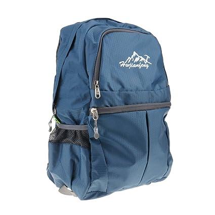 c1bd1617da 20L Borsa da Viaggio Zaino Trekking Arrampicata Campeggio Zainetto  Pieghevole per Uomo Donne Ragazze - Blu scuro: Amazon.it: Sport e tempo  libero