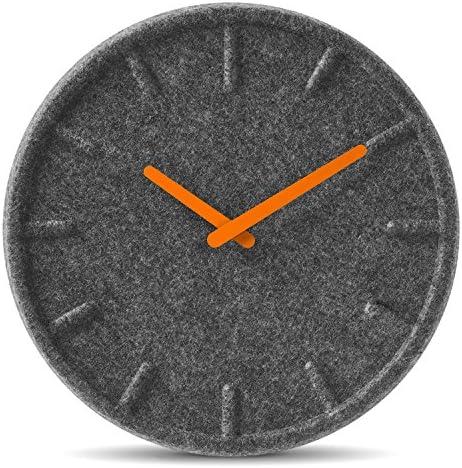 wall clock felt35 orange hands