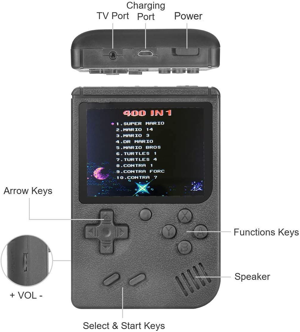 Good Gifts for Kids Boys Girls Men Women Portable Gameboy 3 Inch ...