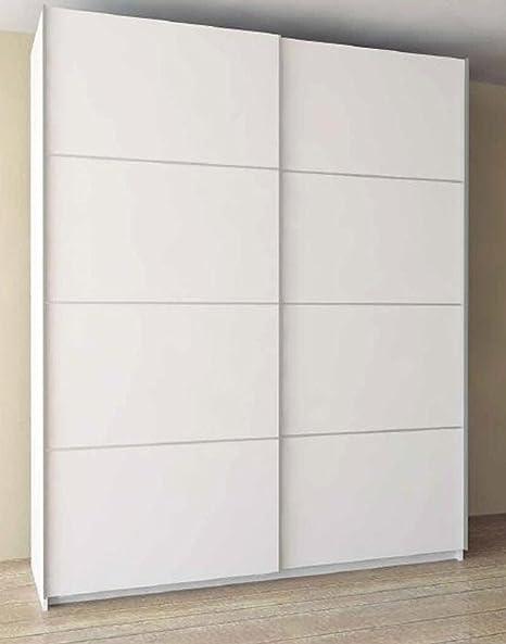 Armario con 2 puertas correderas, blanco – Dimensiones:180 x 60 x ...