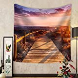Niasjnfu Chen Custom tapestry Sunset Beach near Almeria. Cabo De Gata Nijar Natural Park Almer&iacuteA. Spain. Andalusia - Fabric Wall Tapestry Home Decor