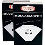 Technivorm Moccamaster 85022 Moccamaster #4 Paper Filters, White (2)… (Original Version)