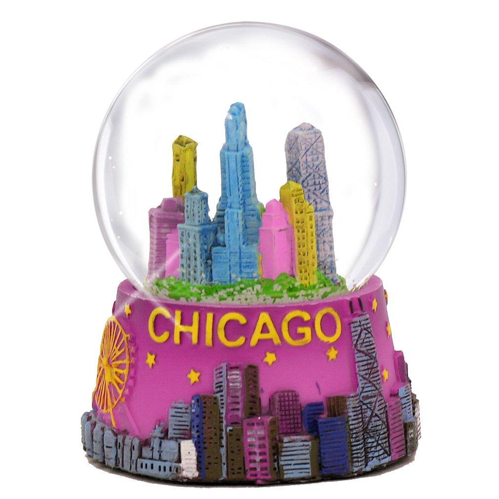 Amazon Chicago Snow Globe 65mm 35 Inch Purple Chicago Snow
