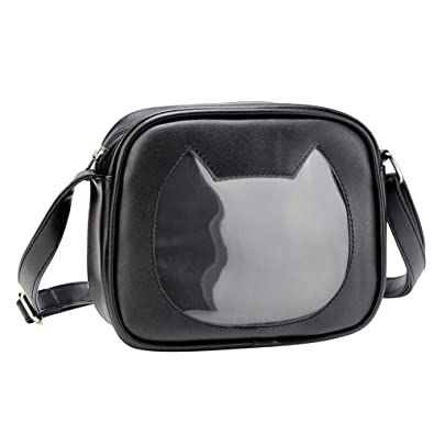 SteamedBun Ita Bag Heart Star Cat Shaped Crossbody Purse Cell Phone Wallet  Shoulder Bags with Window