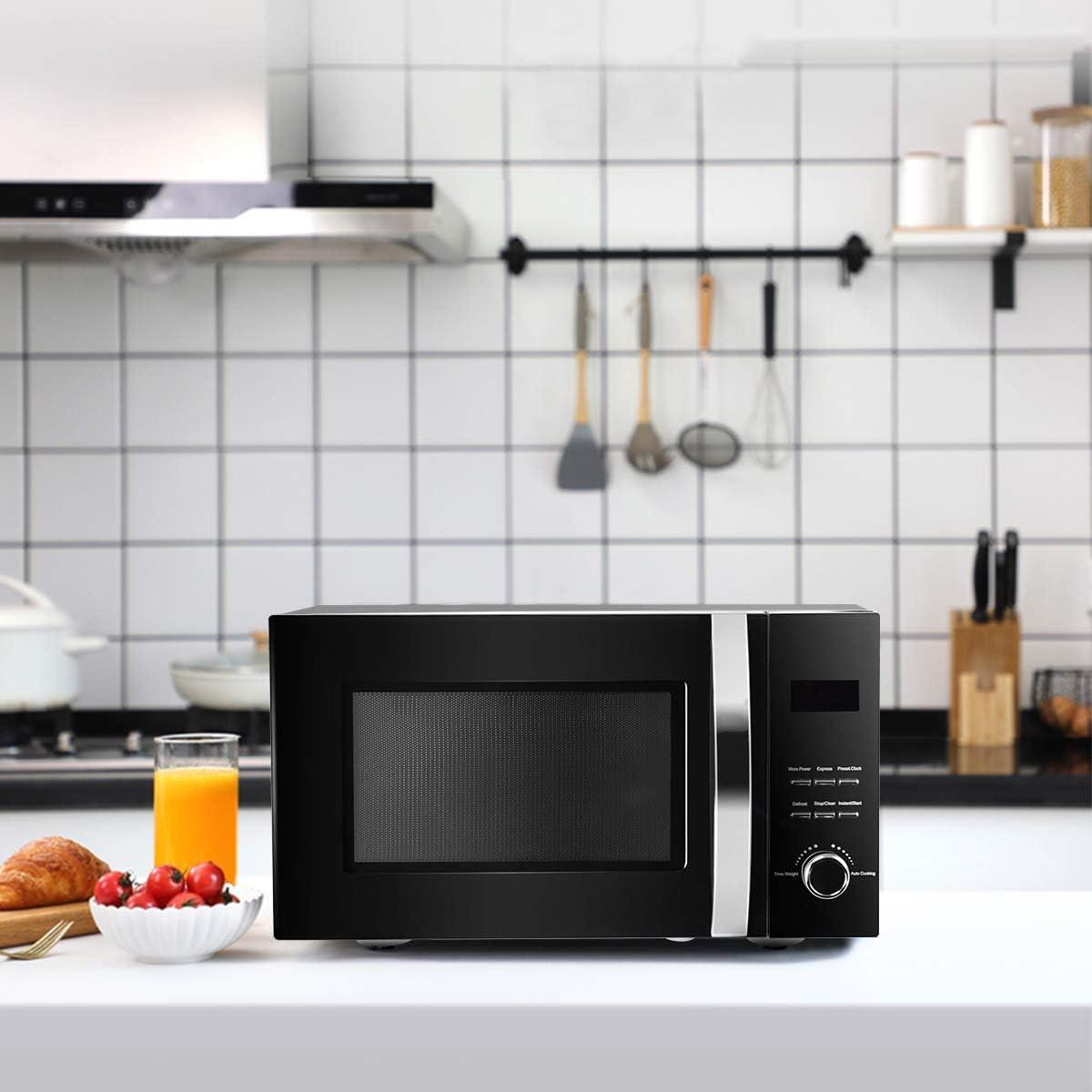 DREAMADE - Microondas con grill (acero inoxidable, microondas multifunción, 23 L, 800 W, temporizador), color negro: Amazon.es: Grandes electrodomésticos