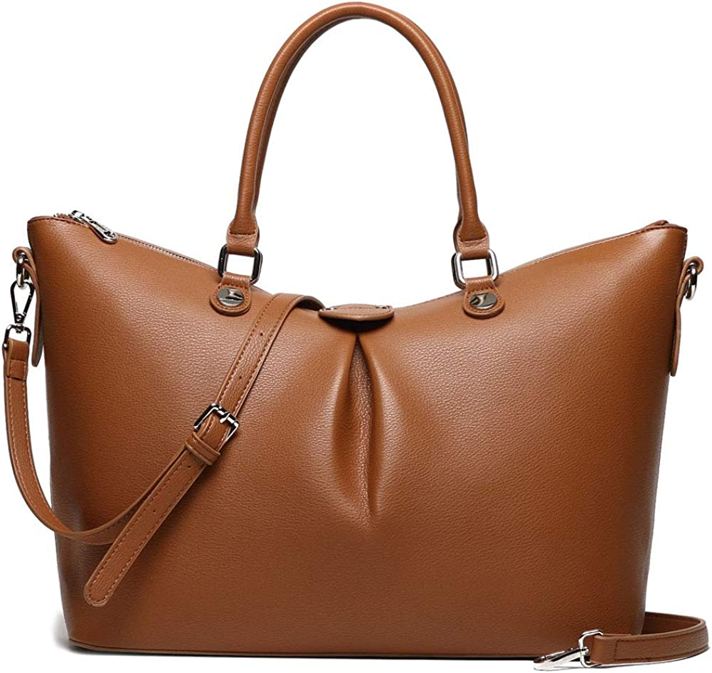 Leather Tote Bag for Women Handbag15.6inch Laptop Business Office Work Bag Travel with shoulder Strap