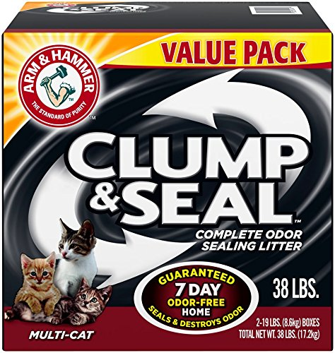 Good Kitty Litter - Arm & Hammer Clump & Seal Litter, Multi-Cat, 38 Lbs