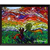 Uhomate The Little Prince Fox Le Petit Prince Little Prince Vincent Van Gogh Starry Night Posters Home Canvas Wall Art Anniversary Gifts Baby Gift Nursery Decor Living Room Wall Decor A029 (8X10)