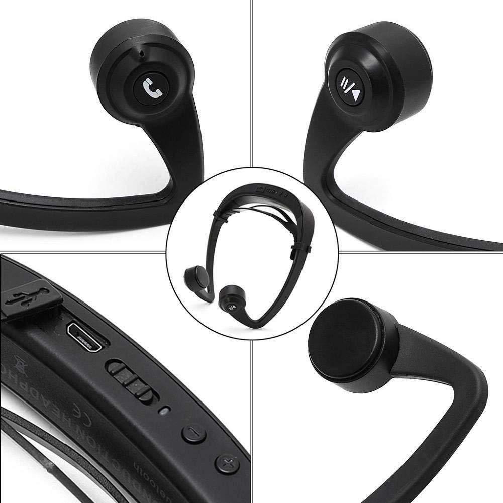 Bone Bluetooth Headphones,Viiwuu Bone Conduction Wireless Bluetooth Headset Sport Gym Waterproof Earphones Built in Mic for iPhone X 8 8plus 7 7plus 6S Samsung Galaxy S7 S8 iOS Android Smart Phones