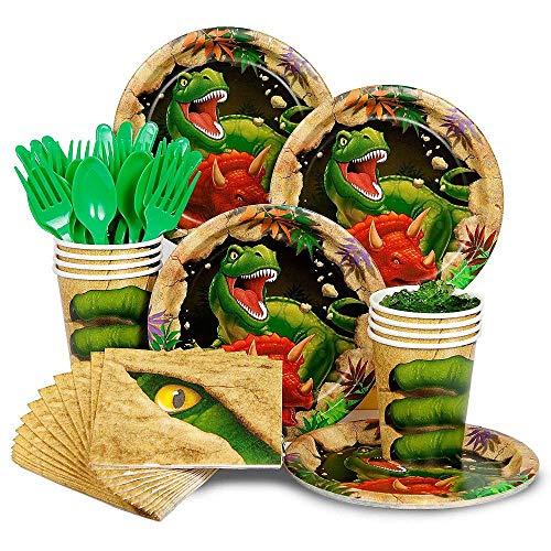 Costume SuperCenter Dinosaur Adventure Standard Tableware Kit Serves