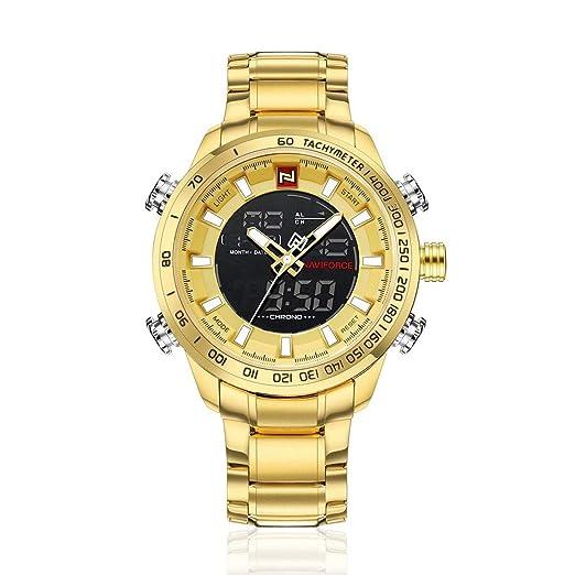 Relojes para Hombre Reloj de Pulsera de Lujo de la Mejor Marca Reloj de Cuarzo con