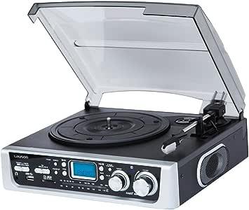 Lauson - Tocadiscos cl144 con Radio, USB Grabador y