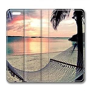 iCustomonline Leather Case for iPhone 6, Beach Stylish Durable Leather Case for iPhone 6 hjbrhga1544
