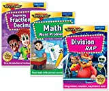Elementary Math Skills 3 DVD Set - Math Words Problems DVD, Division Rap DVD, Beginning Fractions & Decimals DVD