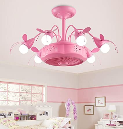 GHGJU Led Negative Ion Ceiling Fan Light Childrenu0027s Room Fan Light  Childrenu0027s Room Chandelier Boys And