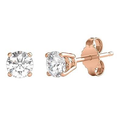 Amazon com: Helzberg Diamonds 14K Rose Gold 3/8 cttw Diamond