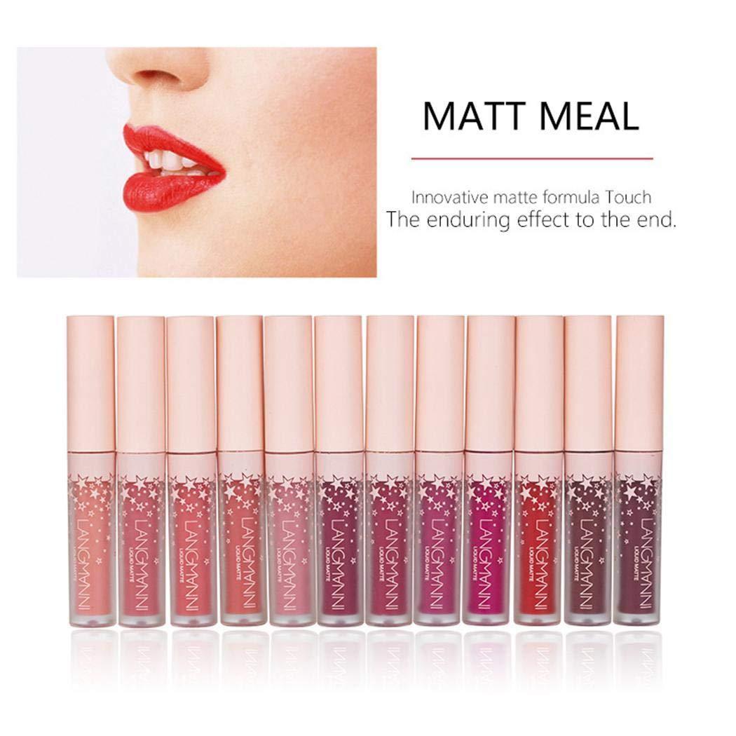 KOKOBUY Waterproof Liquid LipstickLong Lasting Cosmetic Matte Lip Gloss Lipstick