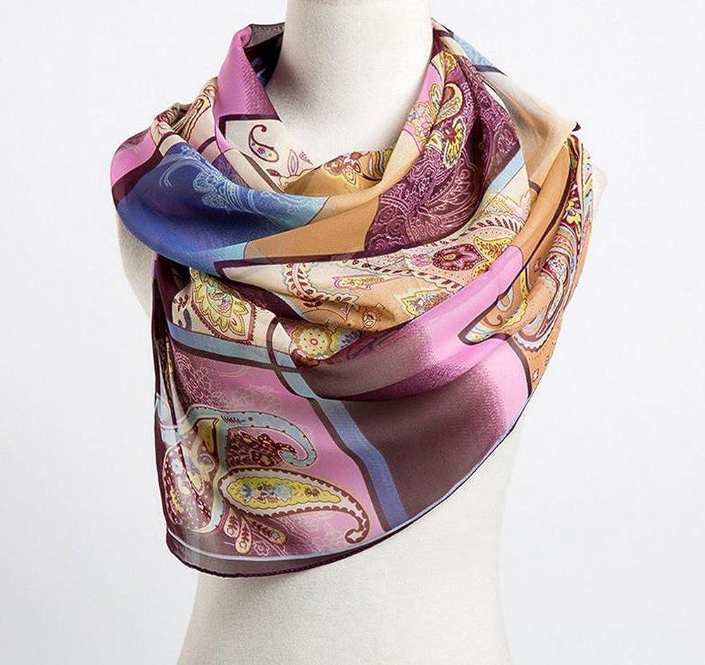 a25869e6cfe7 Westeng Foulard Long Douce Echarpe en Mousseline de Soie pour Femme 160 x  50 cm  Amazon.fr  Vêtements et accessoires