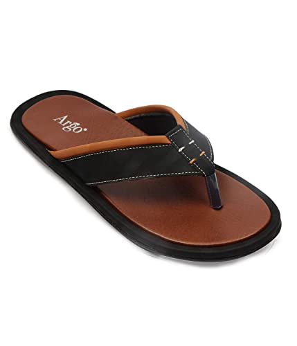 f57f02a0e8b Argo Footwear Happy Mens Stylish Flip Flops  Buy Online at Low Prices in  India - Amazon.in