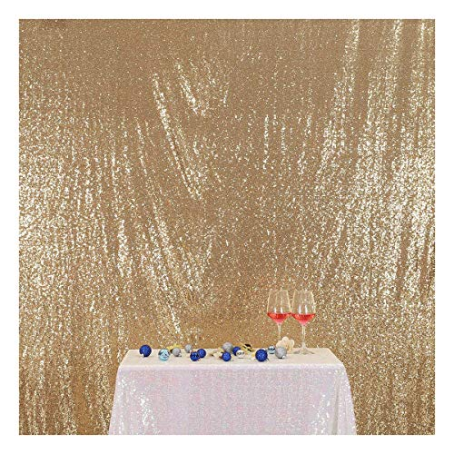 Poise3EHome 5FT x 7FT Sequin Photography Backdrop Curtain for Party Decoration, Light -