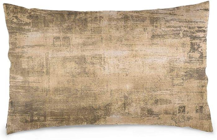 Helen vi Fundas de Almohada de algodón Antiguo Fondo DE PERIÓDICO, Textura DE Papel Grunge Rayado Oscuro 50X35 cm Fundas de Almohada: Amazon.es: Hogar
